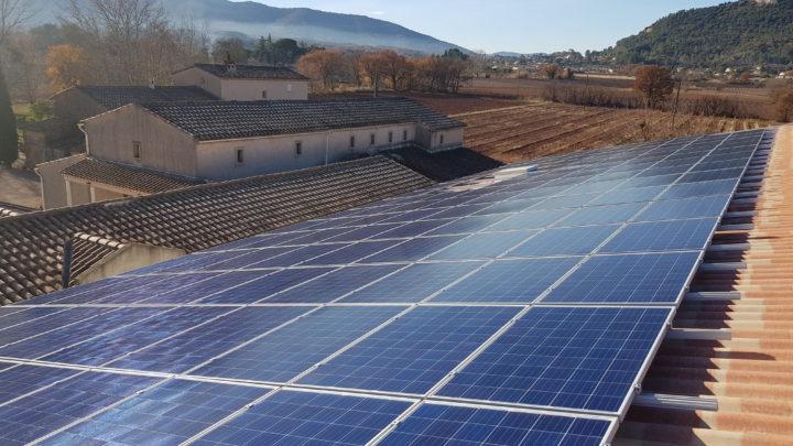 panneaux solaire à Gonfaron